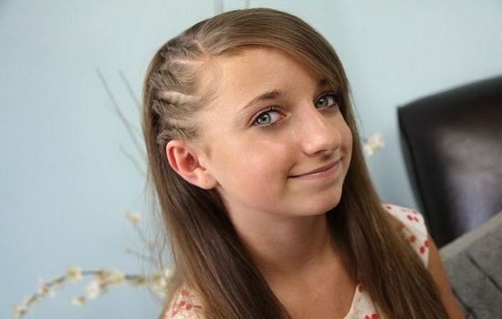 braided bangs for school girls