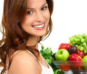 Healthy diet for gorgeous hair.