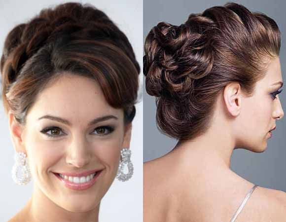 Braided updo haircuts