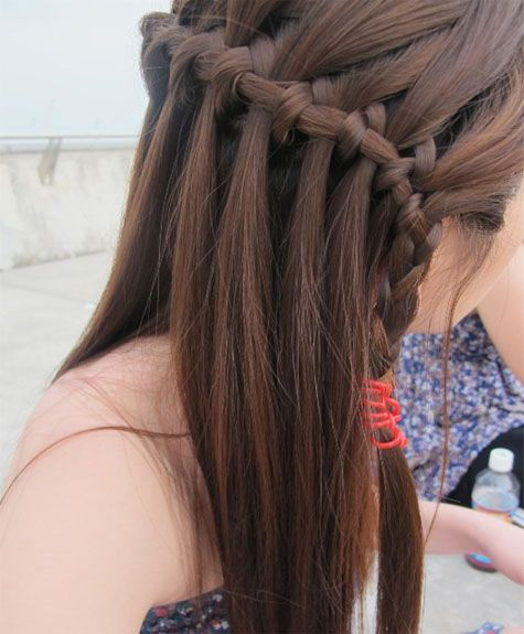 Waterfall braids and bumps