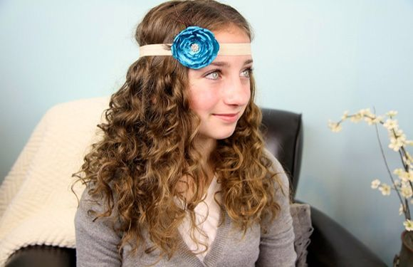 curls and headbands haircuts style