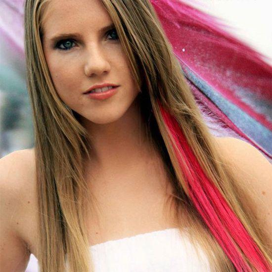 streak hair colour fashion 2014