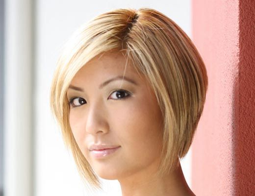 Angled Graduated Bob hairstyles