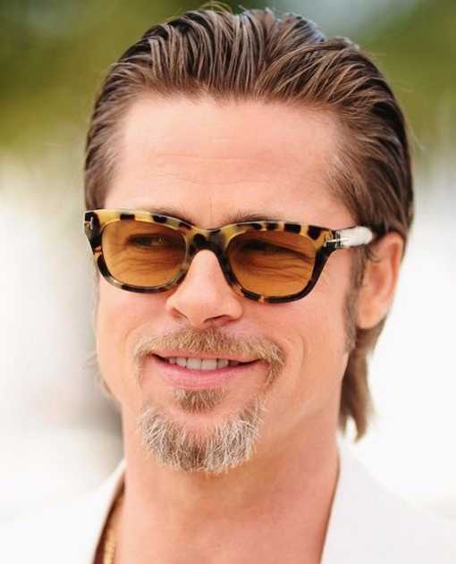Brad Pitt Long Slicked Back Hair for 2016