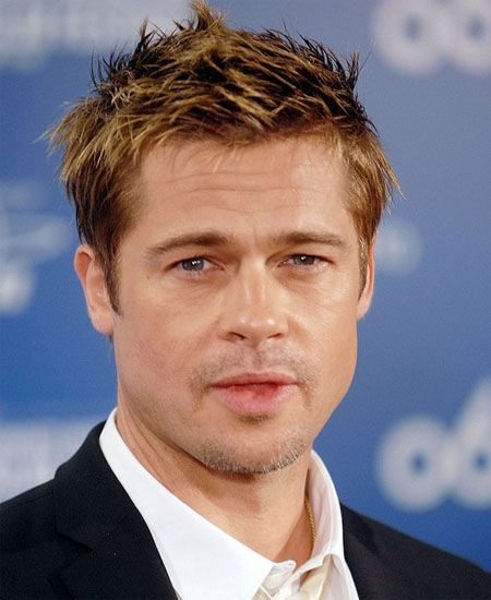 Brad Pitt Short Spiky Hair 2016