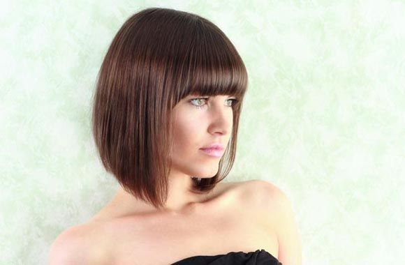 Graduated bob with Front fringe