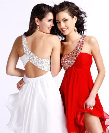 prom Short Halter Dresses