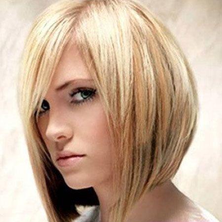 Straight and Angled Choppy Bob Haircuts