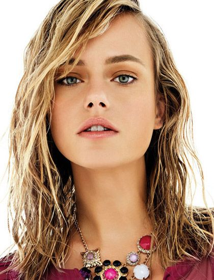 Wet Looking Layered Long Hairstyle 2015