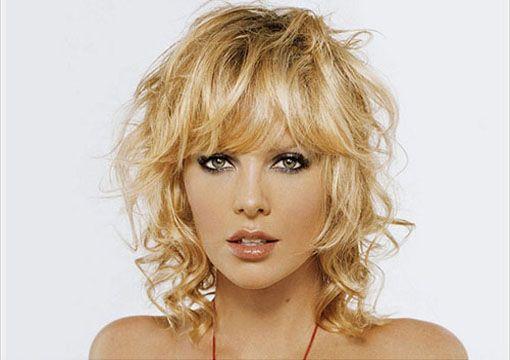Bang Styled Short Wavy Hairstyle