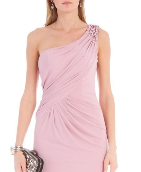 One shoulder aftershock party dress