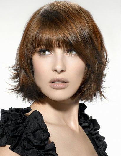 bob hairstyles with Fringes