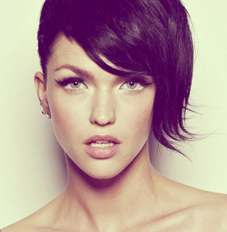 Oval Faces Asymmetrical Hairstyle 2016