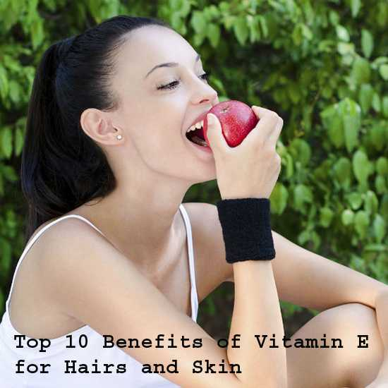 Vitamin E for Hairs and Skin