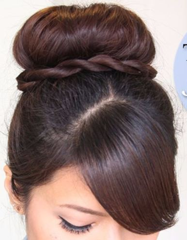 Best twisted sock bun hairstyle 2018