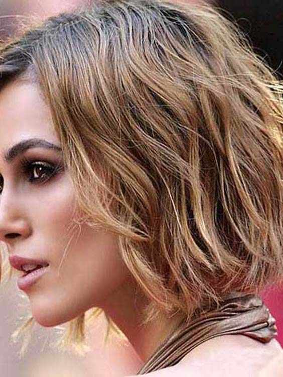 Short Blonde Bob Wavy Haircuts 2018