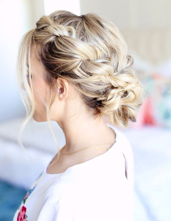 Twisted updo hairstyles 2018 for women