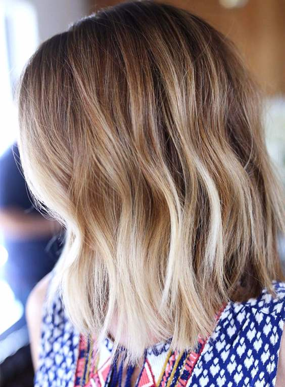 Fall-winter Ombre hair highlights 2017
