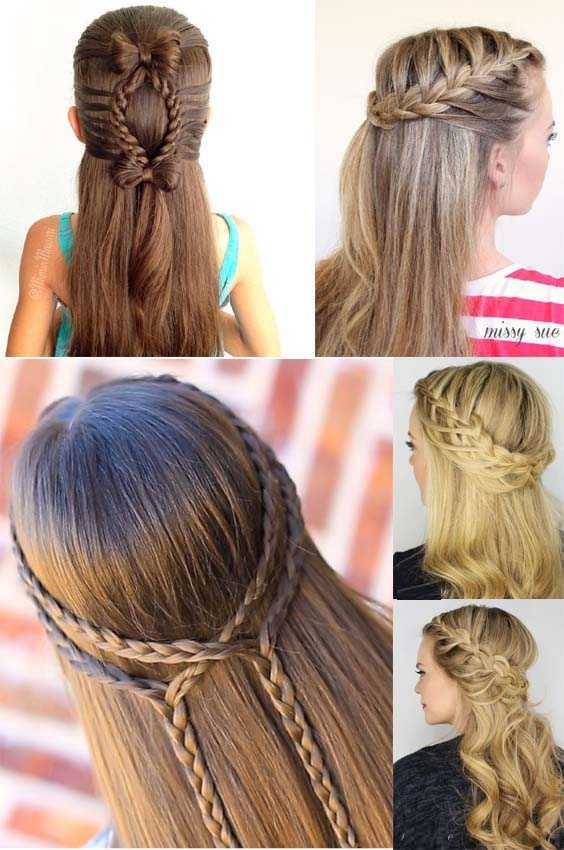 Gorgeous Lace Tie Back French Braid Hairstyles