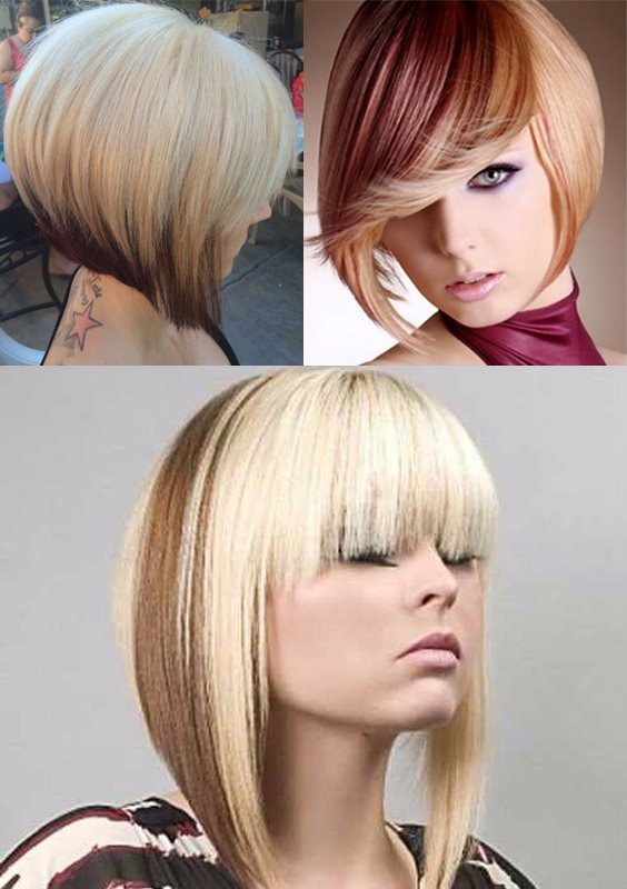 A-line Bob Two Toned Haircut 2018