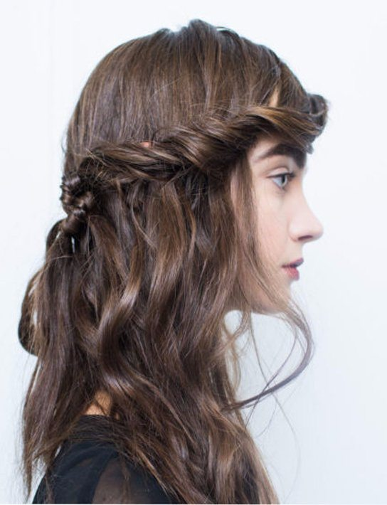 Fall-Winter Knitted Braid Hairstyle 2017 2018