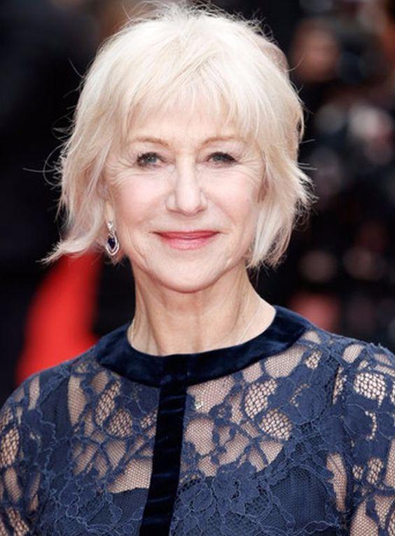 Blonde Short Haircut for Women Over 50