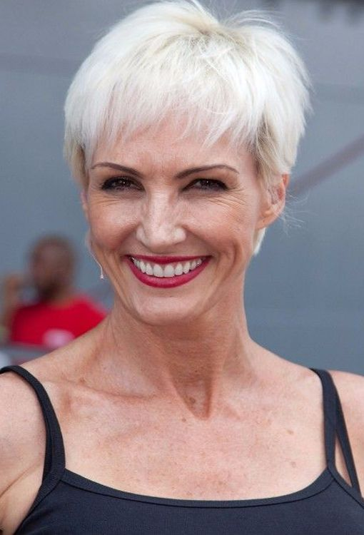 Platinum Pixie Hairstyle for Women Over 50