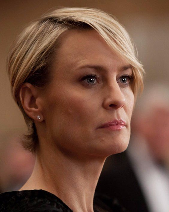 Robin Wright's Short Haircut Style 2018