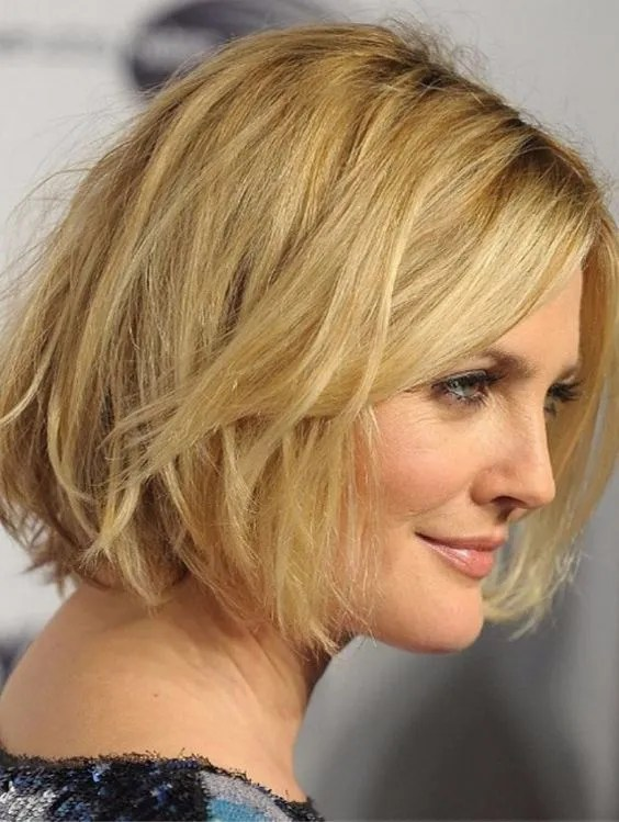 Over 50 Women Short Haircut with Thick Layers