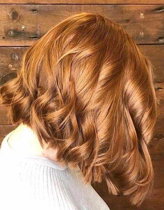 Copper Red Highlights and Hair Colors 2018