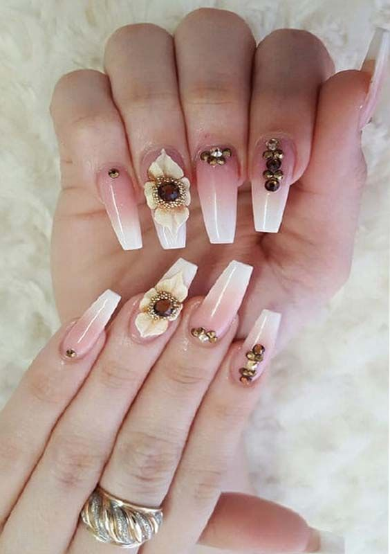 3D Coffin Nail Designs and Nail Arts