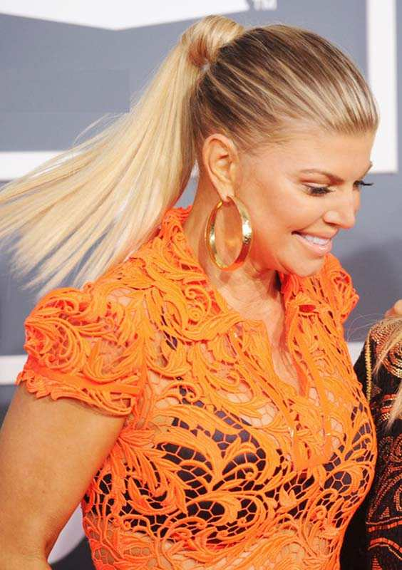 Fergie's Ponytail Hairstyles for 2018
