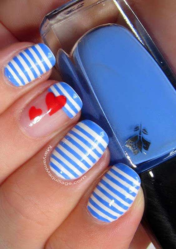Amazing Heart Signs Nail Arts