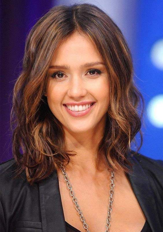 Jessica Alba Medium Ombre Hairstyles in 2018