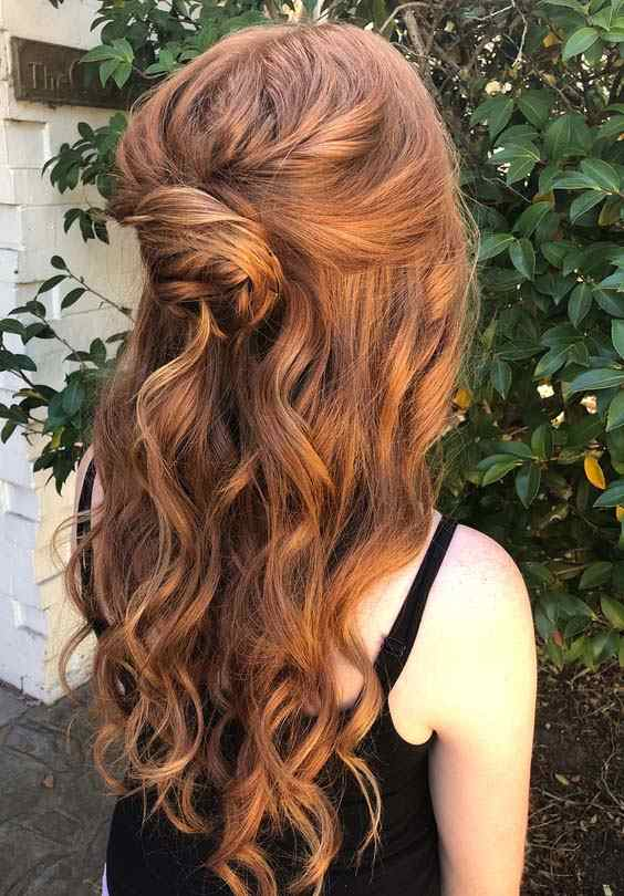 Long Half up Half Down Curls for 2018