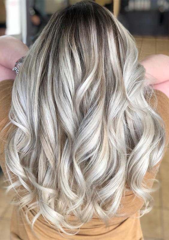 Long Layered Balayage Blonde Hairstyles in 2018