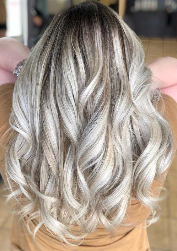 Long Layered Balayage Blonde Hairstyles in 2018