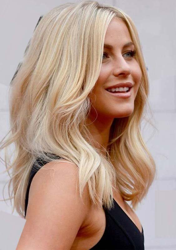 Middle Parted Long layered Hairstyles