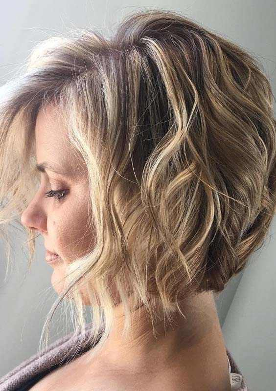 Short Blonde Curly Haircuts for 2018