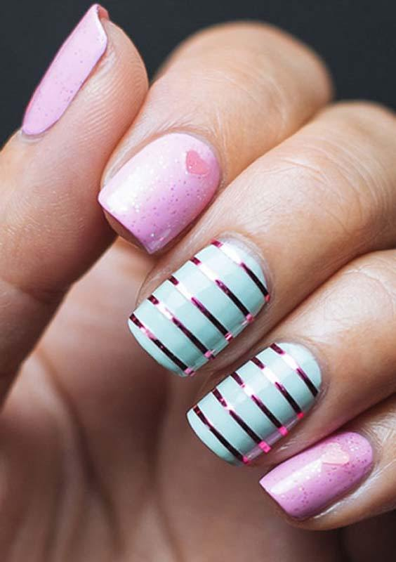 Striping Style Nail Art Designs