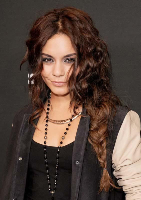 Vanessa Hudgens Twisted Fishtail Braids for 2018