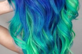 Beautifull Blue And Green Hair Colors