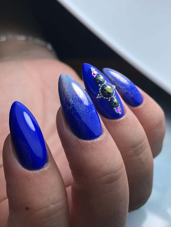 Beautiful Styles Of Blue Nail Art Designs For Women 2018 Stylezco