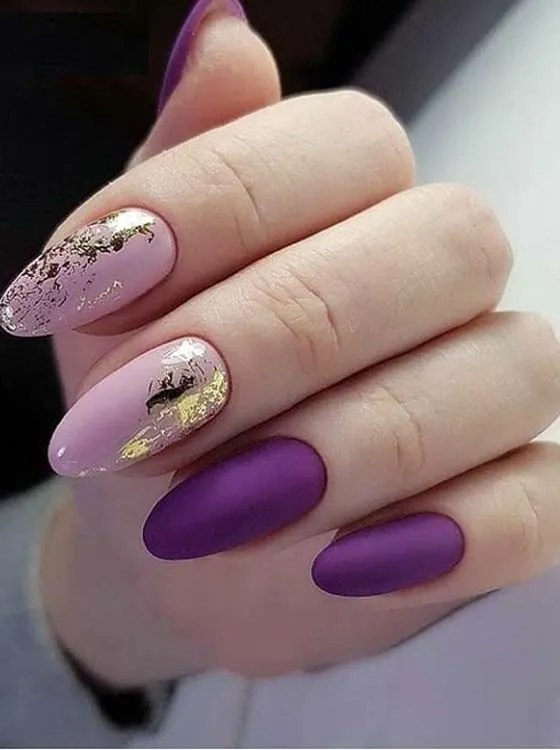 Colorful Purple & Pink Nail Designs in 2018