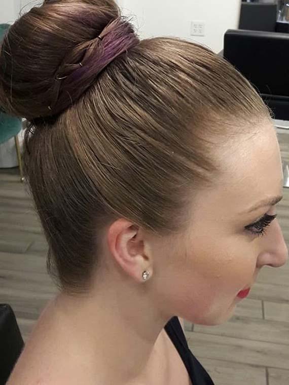 High Bun Hairstyles for fall autumn 2018