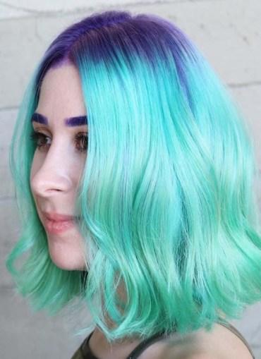 Mermaid Short Green Hair