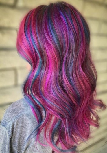 Perfect Shades Of Pink & Purple Hair Colors in 2018