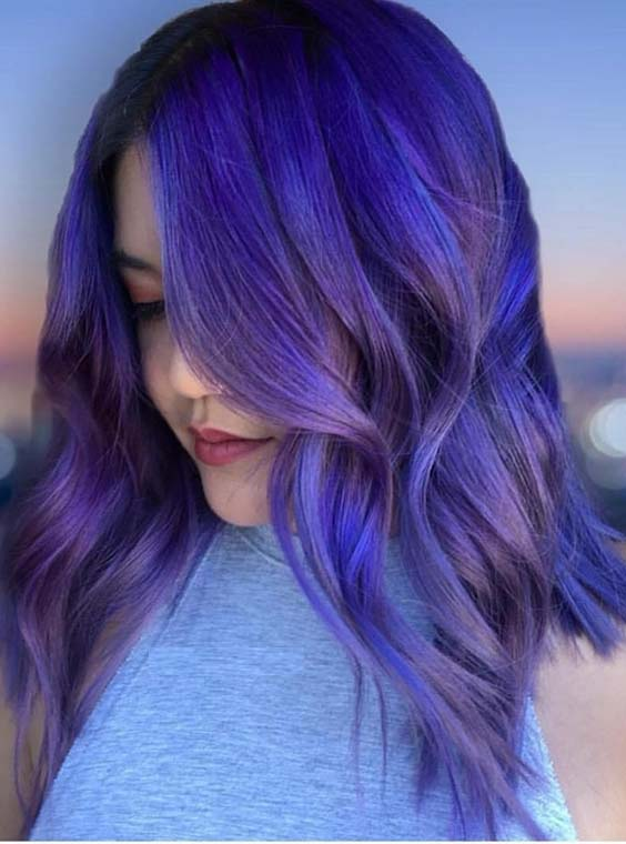 Stunning Shades Of Purple Hair Colors for 2018