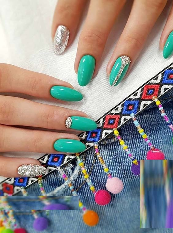 Wonderful Green Nail Arts & Designs in 2018
