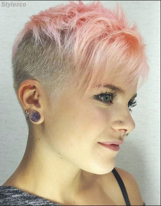 Delightful Undercut Short Hairstyle with Hair Color Trends In 2018